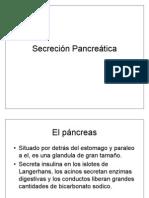 Secreción Pancreatica