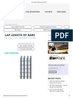 Lap Length of Reinforcement Bars