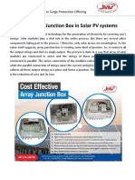 Role of Array Junction Box in Solar PV systems