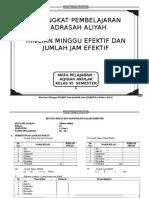 Rincian Efektif Aqidah Akhlak Ma Kelas Xi, 1-2