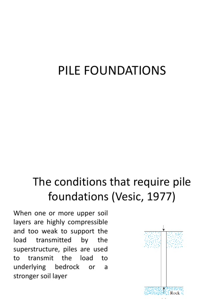 1 Pile Foundations | Deep Foundation | Foundation (Engineering)