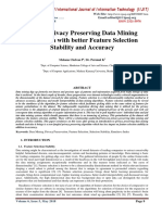 A New Privacy Preserving Data Mining Algorithm with better Feature Selection Stability and Accuracy