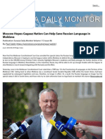 Moscow Hopes Gagauz Nation Can Help Save Russian Language in Moldova - Jamestown