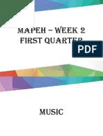 Mapeh – Week 2 First Quarter