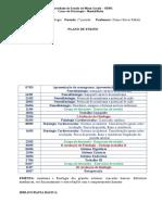 Cronograma Anatomo-fisiologia Manhã