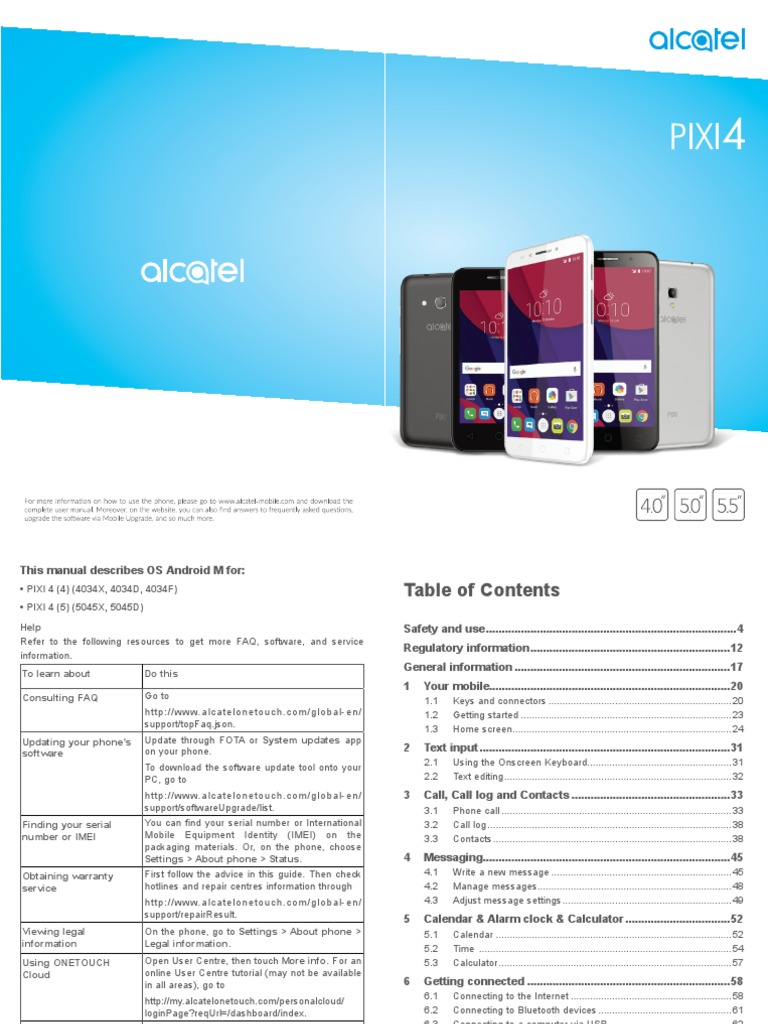 Alcatel | Mobile Phones | Android (Operating System)