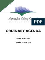 Meander Valley Council agenda June 2018