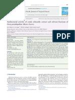 Asian Pacific Journal of Tropical Disease Volume 4 Issue 5 2014 [Doi 10.1016%2FS2222-1808%2814%2960589-2] Llagas, Ma Cristina de Las; Santiago, Librado; Ramos, John Donni -- Antibacterial Activity of
