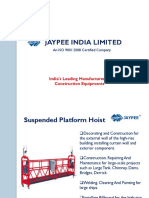 Rope Suspended Working Platform by Jaypee India Limited Construction Equipment Manufacturer