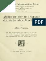 Adam Ferguson, Abhandlung über die Geschichte der Bürgerlichen Gesellschaft