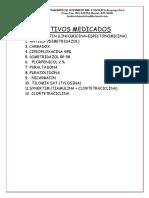 2.- ADITIVOS MEDICADOS