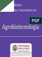 Master Agrobiotecnologia 2014-2014