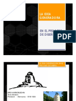 La Idea Generadora en El Proceso de Diseño