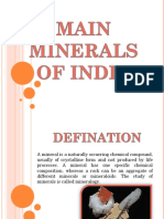 Main Minerals of India