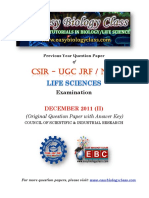 CSIR NET Life Sciences December 2011 Question Paper With Answer Key Solved[1]