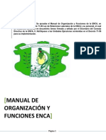 Manual de Organizacion y Funciones ENCA - 2014 Con Resolucion