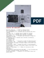 Codigo en Arduino Radar