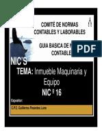 NIC-16 Inmueble Maquinaria y Equipo