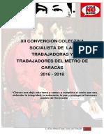 XII Convencion Colectiva Metro de Caracas 31052017