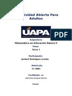 Reporte i Matematica Basica II