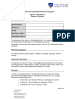 BSBDIV601 Develop diversity policy.docx