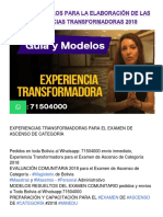 Guías y Modelos Para La Elaboración de Las Experiencias Transformadoras 2018