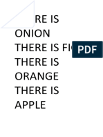There is Onion There is Fig There is Orange