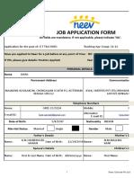 NEEV Job Application Form