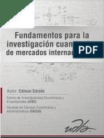 Fundamentos para la investigación cuantitativa de mercados internacionales
