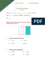 Evaluaciòn Fracciones 3º y 4º