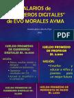 """Sueldos de """"guerreros digitales"""" del MAS"""