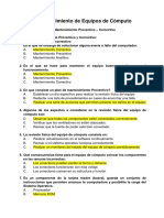 """Preguntas - Mantenimiento de Equipos de Cómputo - IESTP """"PADRE ABAD"""""""