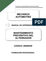 89000036 Mantenimiento Preventivo Del Alternador