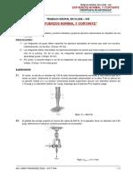 TRABAJO GRUPAL Nº6_Esfuerzos Normal y Cortante