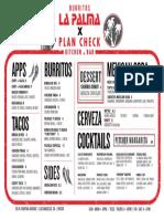 La Palma x Plan Check Final Menu