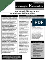 Metodologia de Medicion Fecundidad