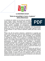 """""""Entre La Sexualidad, El Sexo, El Género""""-Silvia Bleichmar"""