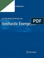 Ken Sekimoto Stochastic Energetics 2010