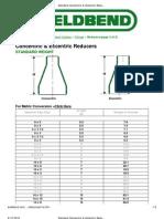 Standard Concentric & Eccentric Reducers