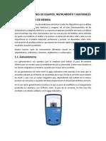 IV Especificaciones de Equipo Intrumentos y Materiales