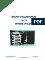 Manual Statie Ultrafiltrare Excito b