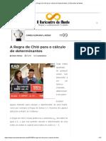 A Regra de Chió Para o Cálculo de Determinantes _ O Baricentro Da Mente