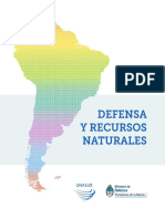 Defensa y Recursos Naturales