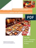 UFCD 8263 Serviço de Restaurante Bar – Mise-En-place Índice