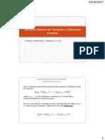Teoremas Basicos de Equações a Diferenças Lineares