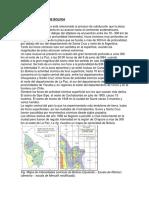 Historia Sismica de Bolivia
