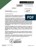 Carta a Galarreta sobre contratación de personal