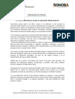 07/06/18 Es Sonora referente en el país en educación Media Superior -C.061827