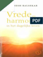 Ramesh Balsekar - Vrede en harmonie in het dagelijks leven