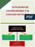 Las Funciones de Los Regidores y El Concejo Municipal